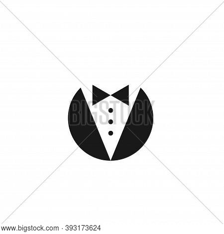 Bow Tie And Tuxedo Sign Isolated On White Background. Gala Evening Symbol. Vector Illustration