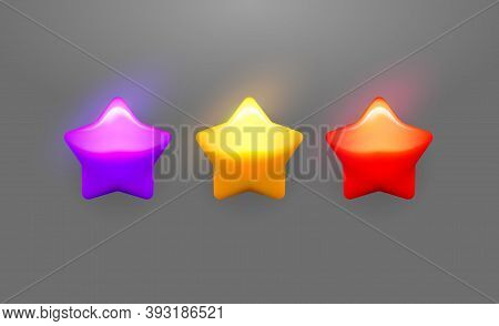 Vector Star Icons Set. Collection Icon Design For Game, Ui, Banner, Design For App, Interface, Game