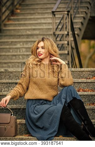 Warm Autumn. Fall Fashion Trend. Wearable Trends. Layer Oversize Knit Over Girly Skirt. Fall Outfit