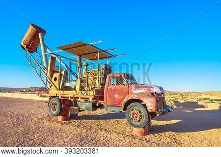 Coober Pedy, South Australia, Australia - Aug 27, 2019: Blower Machine To Suck Mining Debris From Un