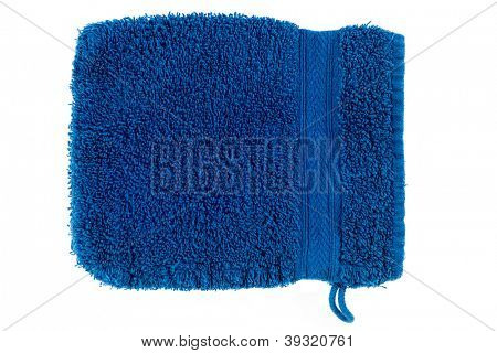Blue flannel in front of white background