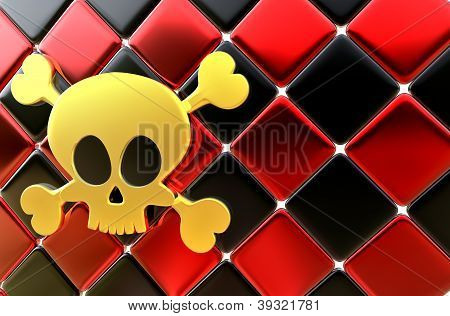 Day of The Dead skull and crossbones as background