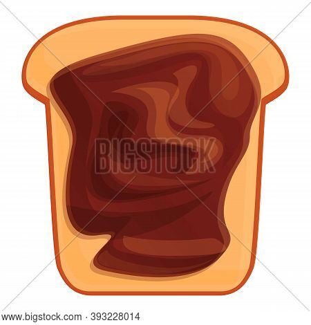 Nut Chocolate Paste Icon. Cartoon Of Nut Chocolate Paste Vector Icon For Web Design Isolated On Whit