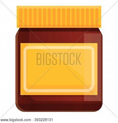 Glass Jar Chocolate Paste Icon. Cartoon Of Glass Jar Chocolate Paste Vector Icon For Web Design Isol