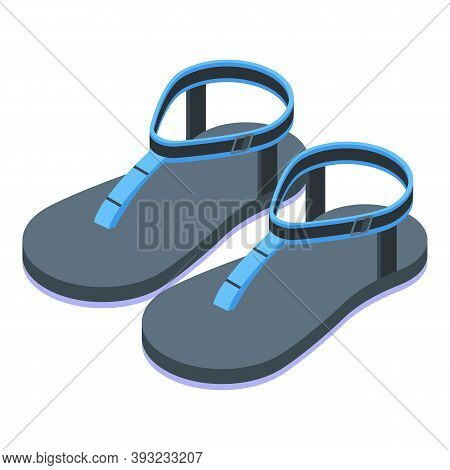 Soft Girl Sandals Icon. Isometric Of Soft Girl Sandals Vector Icon For Web Design Isolated On White