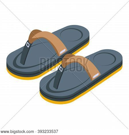 Footwear Sandals Icon. Isometric Of Footwear Sandals Vector Icon For Web Design Isolated On White Ba