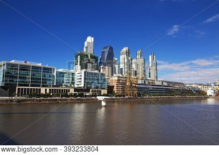 Buenos Aires, Argentina - 03 May 2016: The Marina In Buenos Aires, Argentina