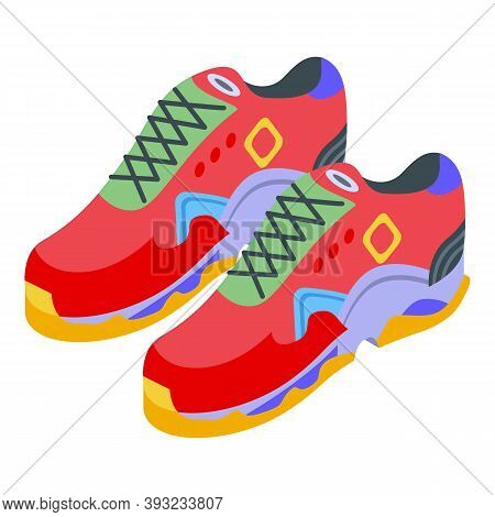 Sport Sneakers Icon. Isometric Of Sport Sneakers Vector Icon For Web Design Isolated On White Backgr