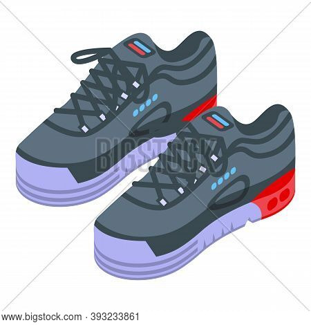 Walk Sneakers Icon. Isometric Of Walk Sneakers Vector Icon For Web Design Isolated On White Backgrou