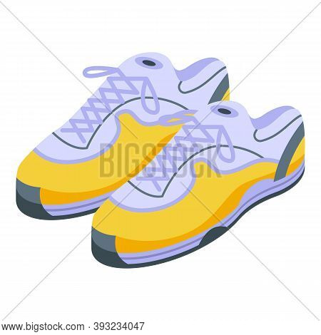 Athletic Sneakers Icon. Isometric Of Athletic Sneakers Vector Icon For Web Design Isolated On White