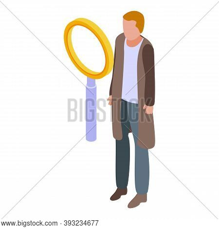 Online Dating Search Icon. Isometric Of Online Dating Search Vector Icon For Web Design Isolated On