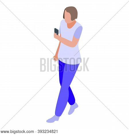 Online Dating Romantic Talk Icon. Isometric Of Online Dating Romantic Talk Vector Icon For Web Desig