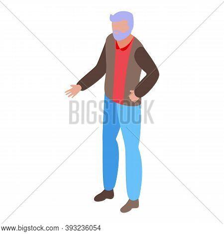 Cinema Senior Actor Icon. Isometric Of Cinema Senior Actor Vector Icon For Web Design Isolated On Wh