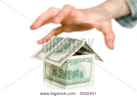 Business Concept. Money With Hand