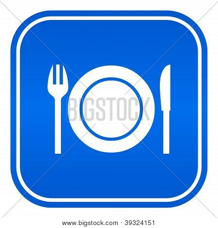 Restaurant vector sign isolated on white background poster