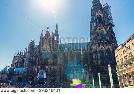 Cologne Cathedral Roman Catholic Church Of Saint Peter Gothic Architectural Style Building With Two