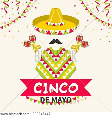 Mexico Traditional Fiesta. Cinco De Mayo Mexican Holiday Celebration Greeting Card. Traditional Mexi