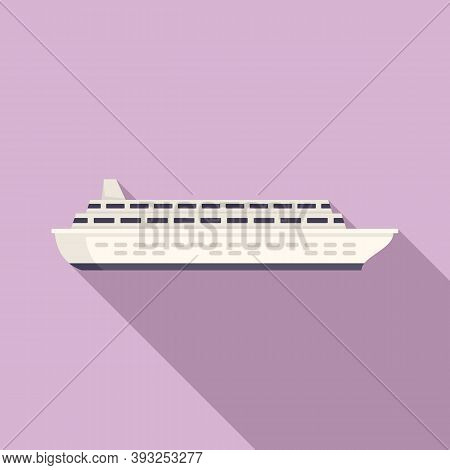 Ocean Liner Icon. Flat Illustration Of Ocean Liner Vector Icon For Web Design