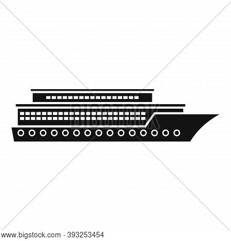Vacation Cruise Icon. Simple Illustration Of Vacation Cruise Vector Icon For Web Design Isolated On