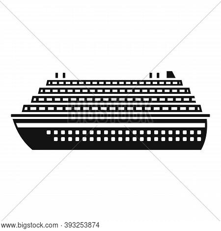 Voyage Cruise Icon. Simple Illustration Of Voyage Cruise Vector Icon For Web Design Isolated On Whit