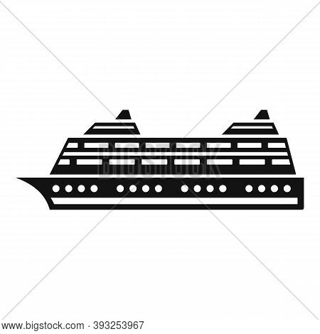 Ocean Liner Icon. Simple Illustration Of Ocean Liner Vector Icon For Web Design Isolated On White Ba