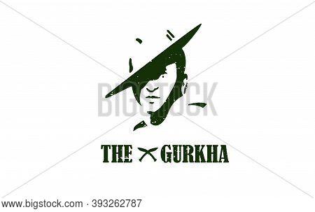 Gurkha Army Logo. Illustration Of Gurkha Army.brigade Of Gurkha Logo.