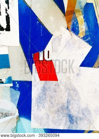 Old ripped blank torn grunge posters texture background