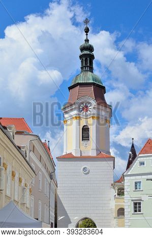 Austria. Beautiful Old Architecture Of Krems In A Sunny Summer Day