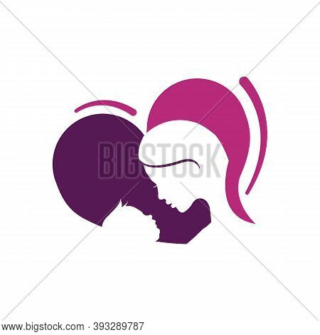 Truely Love Silhoutte Of Lovely Mother Mom And Baby Logo Vector Graphic Concept