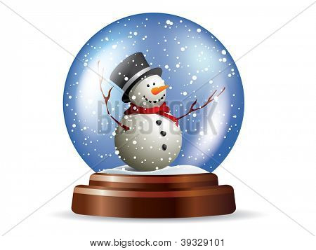Snowglobe with snowman