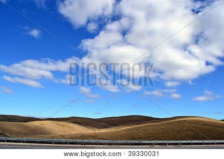 Nubes en el campo