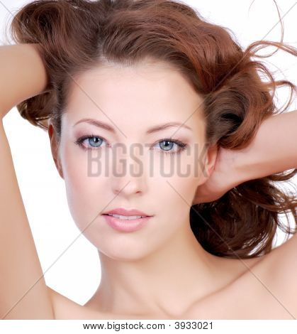 Attractive Woman's Face
