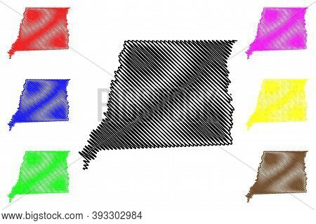 East Feliciana County, Louisiana (u.s. County, United States Of America, Usa, U.s., Us) Map Vector I