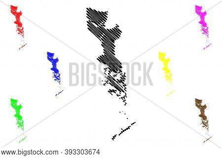 Jefferson County, Louisiana (u.s. County, United States Of America, Usa, U.s., Us) Map Vector Illust
