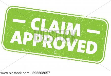 Green Grungy Claim Approved Sign Or Rubber Stamp Vector Illustration