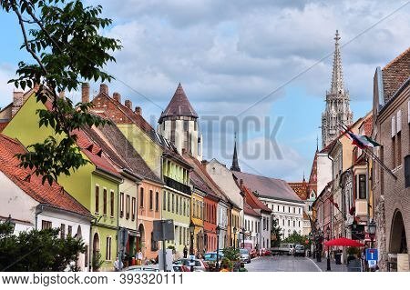 Budapest, Hungary - June 19, 2014: People Visit Castle Hill In Buda District Of Budapest. It Is The