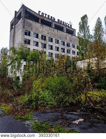 Pripyat, Ukraine -17 October, 2020: Hotel