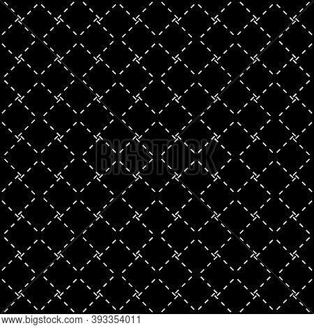 Seamless Vector. Diagonal Strokes Pattern. Tilted Hatches Image. Slanted Dashes Motif. Folk Ornament