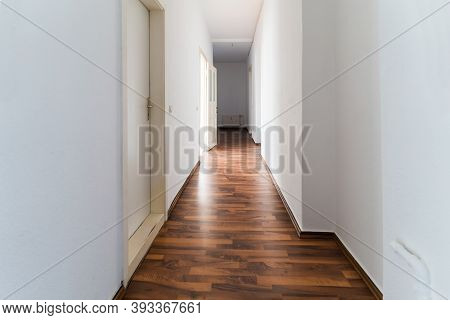 Classic Old Residential Appartment Hallway Corridor Interior