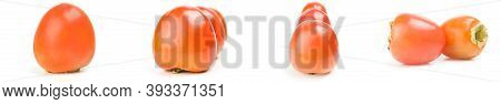 Set Of Persimmon Isolated On A White Background Cutout