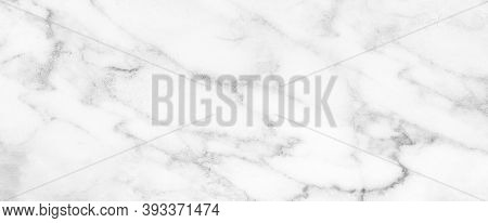 Marble Granite White Panorama Background Wall Surface Black Pattern Graphic Abstract Light Elegant G