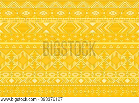 Indian Pattern Tribal Ethnic Motifs Geometric Seamless Vector Background. Awesome Ikat Tribal Motifs