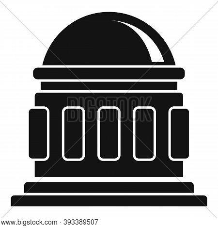 Planetarium Icon. Simple Illustration Of Planetarium Vector Icon For Web Design Isolated On White Ba