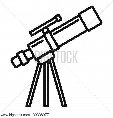 Planetarium Telescope Icon. Outline Planetarium Telescope Vector Icon For Web Design Isolated On Whi