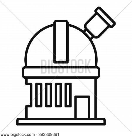 Discovery Planetarium Icon. Outline Discovery Planetarium Vector Icon For Web Design Isolated On Whi
