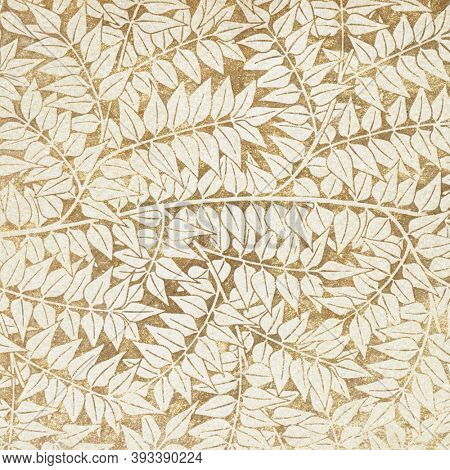 Vintage leaves ornament seamless pattern background