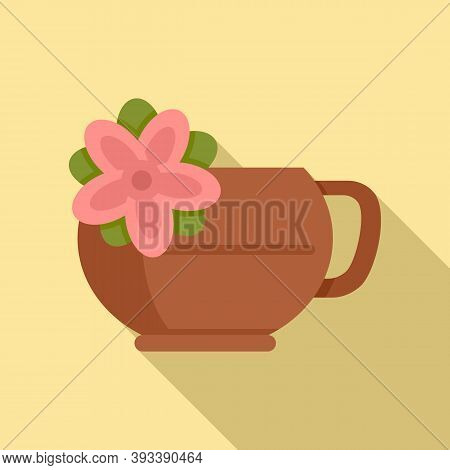 East Tea Ceremony Icon. Flat Illustration Of East Tea Ceremony Vector Icon For Web Design