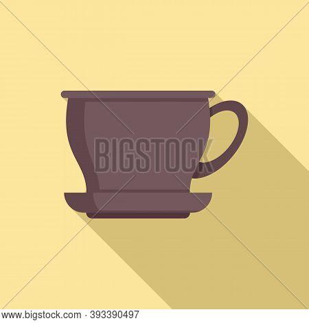 Ceramic Tea Cup Icon. Flat Illustration Of Ceramic Tea Cup Vector Icon For Web Design