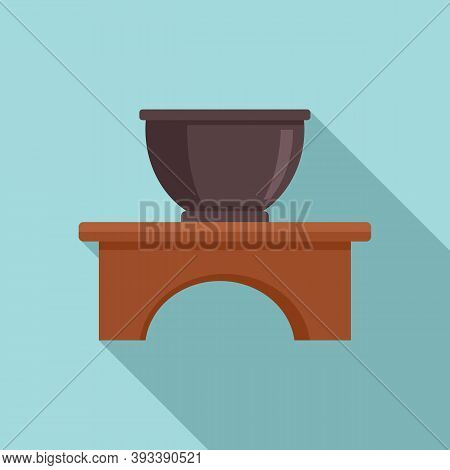 Gourmet Tea Ceremony Icon. Flat Illustration Of Gourmet Tea Ceremony Vector Icon For Web Design