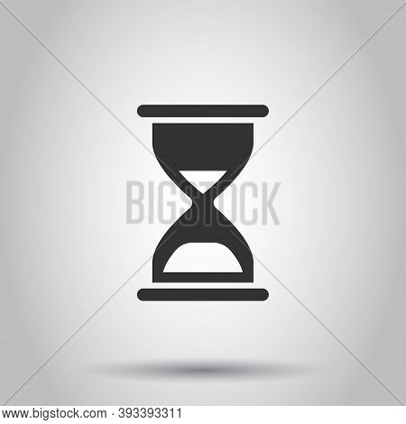 Hourglass Icon In Flat Style. Sandglass Vector Illustration On White Isolated Background. Clock Busi